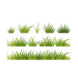green grass horizontal border a set vector image