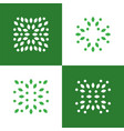 green plant abstract logo symbol icons set vector image