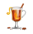 Grog Hot Rum Drink With Spices vector image vector image