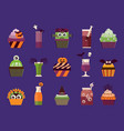 halloween cupcakes and cocktails vector image vector image