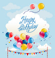 happy birthday balloons card vector image