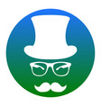 hipster accessories design white icon in vector image