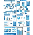 INFOGRAPHIC DEMOGRAPHICS BLUE 11 vector image vector image