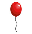 isolated red balloon design vector image vector image