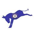 kentucky democrat donkey flag vector image