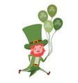 leprechaun with helium balloon character vector image vector image
