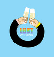 LGBT wedding Gay wedding Mens hands to drink vector image vector image
