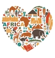 Love for Africa vector image vector image