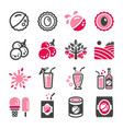 lychee icon set vector image vector image