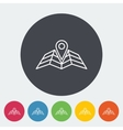Map pointer flat icon vector image vector image