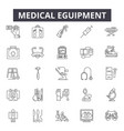 medical eguipment line icons signs set vector image vector image