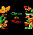 mexican cinco de mayo greeting card vector image vector image