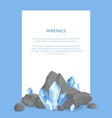 minerals poster with text vector image
