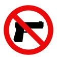 No gun sign vector image