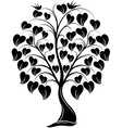 Ornaments Heart Tree with Bird vector image vector image