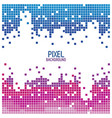 pixel background design red and blue over white vector image vector image