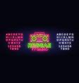 reggae music neon logo neon sign vector image vector image