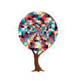 retro abstract texture decoration tree concept vector image vector image