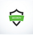 security shield icon vector image vector image