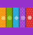 set of different bright seamless patterns vector image vector image