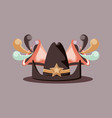 sherriff hat design vector image