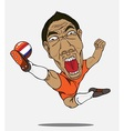 soccer player Netherland vector image vector image
