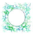 Spring background wreath with green mint leaves vector image vector image