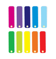 Swatches in row vector image vector image