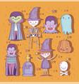trick or treat happy halloween vector image