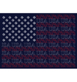 united states america text flag vector image vector image
