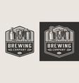 vintage brewery monochrome logotype vector image