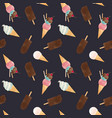 watercolor ice cream pattern vector image vector image