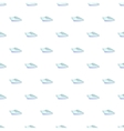 Yacht pattern cartoon style vector image vector image
