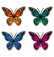 colorful butterflies on white background vector image
