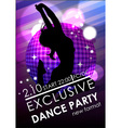 Dance party poster or flyer template vector image