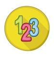 123 blocks flat icon vector image