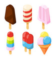 3d icecream isometric pictures vector image vector image