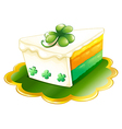 A slice of cake for St Patricks Day vector image vector image