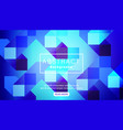 abstract bright vivid blue square background vector image vector image
