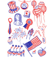 America doodles vector image vector image