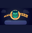 angry zombie character halloween poster vector image vector image