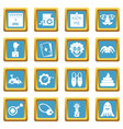 april fools day icons azure vector image vector image