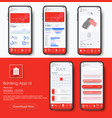 banking app ui kit for responsive mobile app or vector image vector image