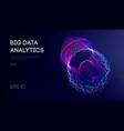 big data visualization background 3d big data vector image vector image