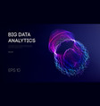 big data visualization background 3d data vector image vector image