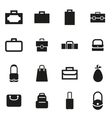 black bag icon set vector image vector image