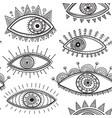 boho style eyes seamless pattern vector image vector image