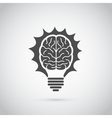 brain bulb vector image vector image