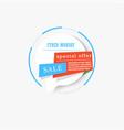 bubble speech cyber monday sale vector image vector image