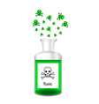 Chemical bottle with steamy toxic solution vector image vector image